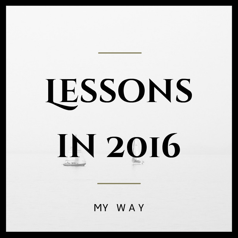 Learned lessions in 2016